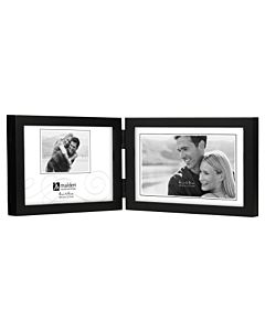 Malden Designs - Concepts Black 5x7 Double Landscape Frame