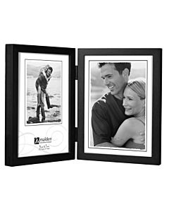 Malden Designs - Concepts Black 4X6 Double Portrait Hinged Frame