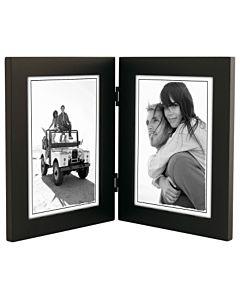 Malden Designs - Linear Black Frame 5x7 Double Portrait