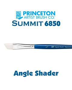 Princeton Series 6850 Summit Synthetic Short Handle - Angle Shader - Size 1/4""