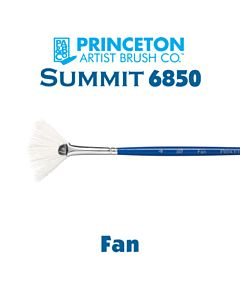 Princeton Series 6850 Summit Synthetic Short Handle - Fan - Size 4