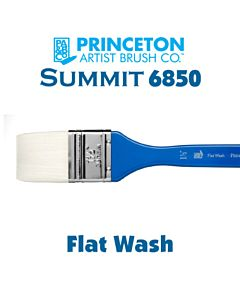 Princeton Series 6850 Summit Synthetic Short Handle - Flat Wash - Size 1.5""