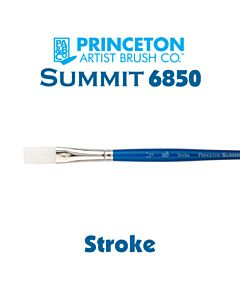 Princeton Series 6850 Summit Synthetic Short Handle - Stroke - Size 1/4""