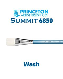 Princeton Series 6850 Summit Synthetic Short Handle - Wash - Size 1/2""