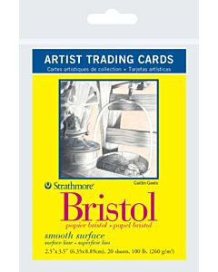 Strathmore Bristol Vellum Artist Trading Cards 1 Pack (20 Cards)