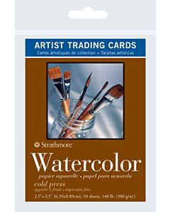 Strathmore Watercolor Artist Trading Cards 1 Pack (10 Cards)