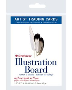 Strathmore Illustration Board Artist Trading Cards 1 Pack (5 Cards)