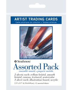 Strathmore Assorted Artist Trading Cards 1 Pack (12 Cards)