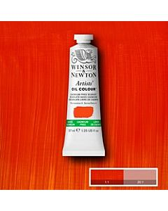 Winsor & Newton Artist Oil Colors - 37ml - Cadmium Free Scarlet