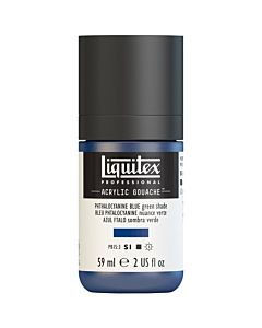 Liquitex Acrylic Gouache - 59ml - Phthalocyanine Blue (Green Shade)