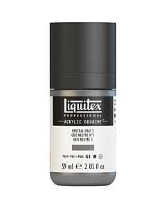 Liquitex Acrylic Gouache - 59ml - Neutral Gray 5