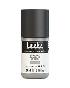 Liquitex Acrylic Gouache - 59ml - Neutral Gray 7