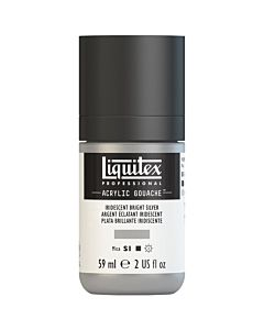 Liquitex Acrylic Gouache - 59ml - Iridescent Bright Silver