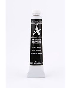 Grumbacher Academy Watercolor - 7.5ml - Ivory Black