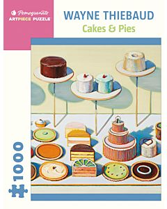 Wayne Thiebaud: Cakes & Pies 1,000-piece Jigsaw Puzzle