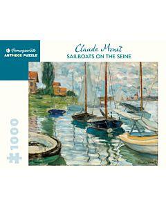 Monet: Sailboats on the Seine 1000-Piece Jigsaw Puzzle