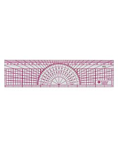 "C-THRU 6""/15cm Graph Protractor Ruler, 8ths/16ths"