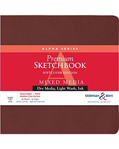 Stillman & Birn Alpha Series Softcover White Square Mixed Media Sketchbook 7.5x7.5""