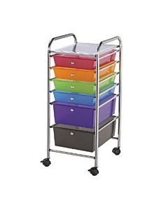 Alvin Multicolored Studio Cart 6 Drawer