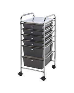Alvin Storage Cart 6 Drawer Smoke