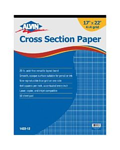 "Alvin Cross Section Pad 17""x22"" Pad 4""x4"" Grid"