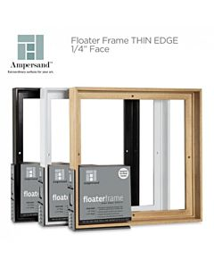 "Ampersand Floater Frame Thin 8x8 1.5"" Depth - Black"