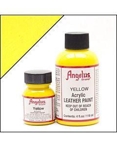 Angelus Acrylic Leather Paint - 4oz - Yellow Paint