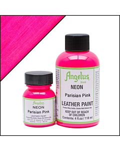 Angelus Acrylic Leather Paint - 1oz - Neon Parisian Pink Paint