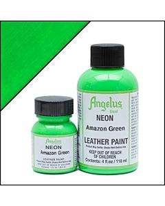 Angelus Acrylic Leather Paint - 1oz - Neon Amazon Green Paint