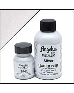 Angelus Acrylic Leather Paint - 1oz - Silver Paint