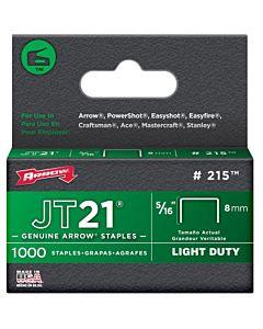 "Arrow JT21 Light Duty Staples - 5/16"""