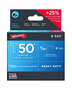 "Arrow T50 Heavy Duty Staples - 5/16"""