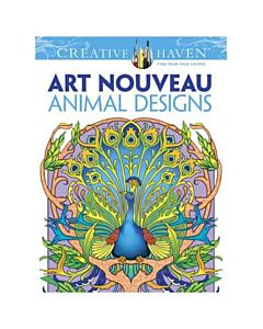 Creative Haven Art Nouveau Animals Adult Coloring Book