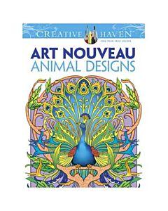 Creative Haven Art Nouveau Animals Adult Coloring Book
