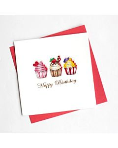 Quilling Card - Cupcake Birthday