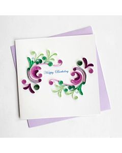 Quilling Card - Birthday Swirls