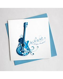 Quilling Card - Birthday Guitar