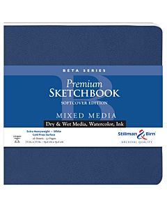 Stillman & Birn Beta Series Softcover White Square Mixed Media Sketchbook 7.5x7.5""