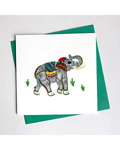 Quilling Card - Elephant