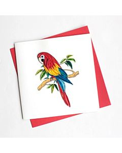 Quilling Card - Parrot