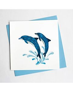 Quilling Card - Jumping Dolphins