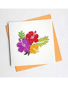 Quilling Card - Hibiscus Flower