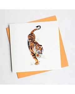Quilling Card - Tiger