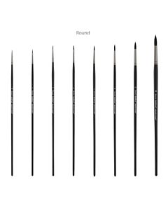 Black Swan Synthetic Sable Brush - Round - 1