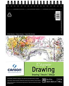Canson Heavyweight Drawing Pad 9x12""