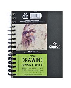Canson Artists Drawing Pad Cream 5.5X8.5