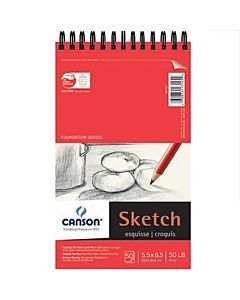 Canson Wirebound Sketch Pad 5.5x8.5 - 50 Sheets