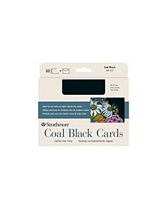Strathmore Creative Cards 10 Pack 5x7 - Coal Black