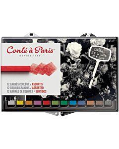 Conte Crayon 12 Assorted Color Set
