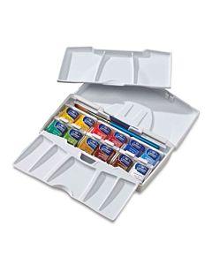 Winsor & Newton Cotman Water Colour Pocket Plus Set Set of 12 Half Pans